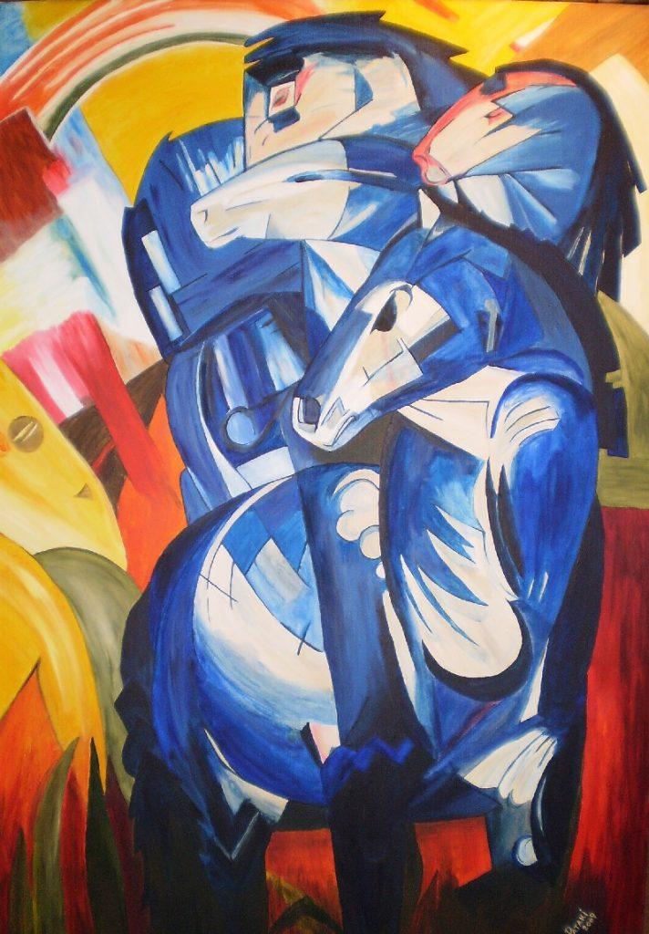 Franz Marc, Turm der blauen Pferde (1913; verschollen seit 1945)